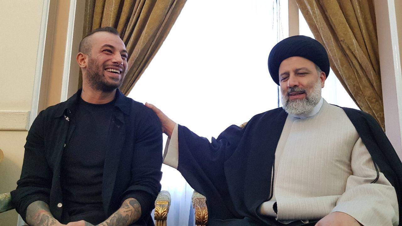 فیلم-امیر تتلو به دیدار رئیسی رفت