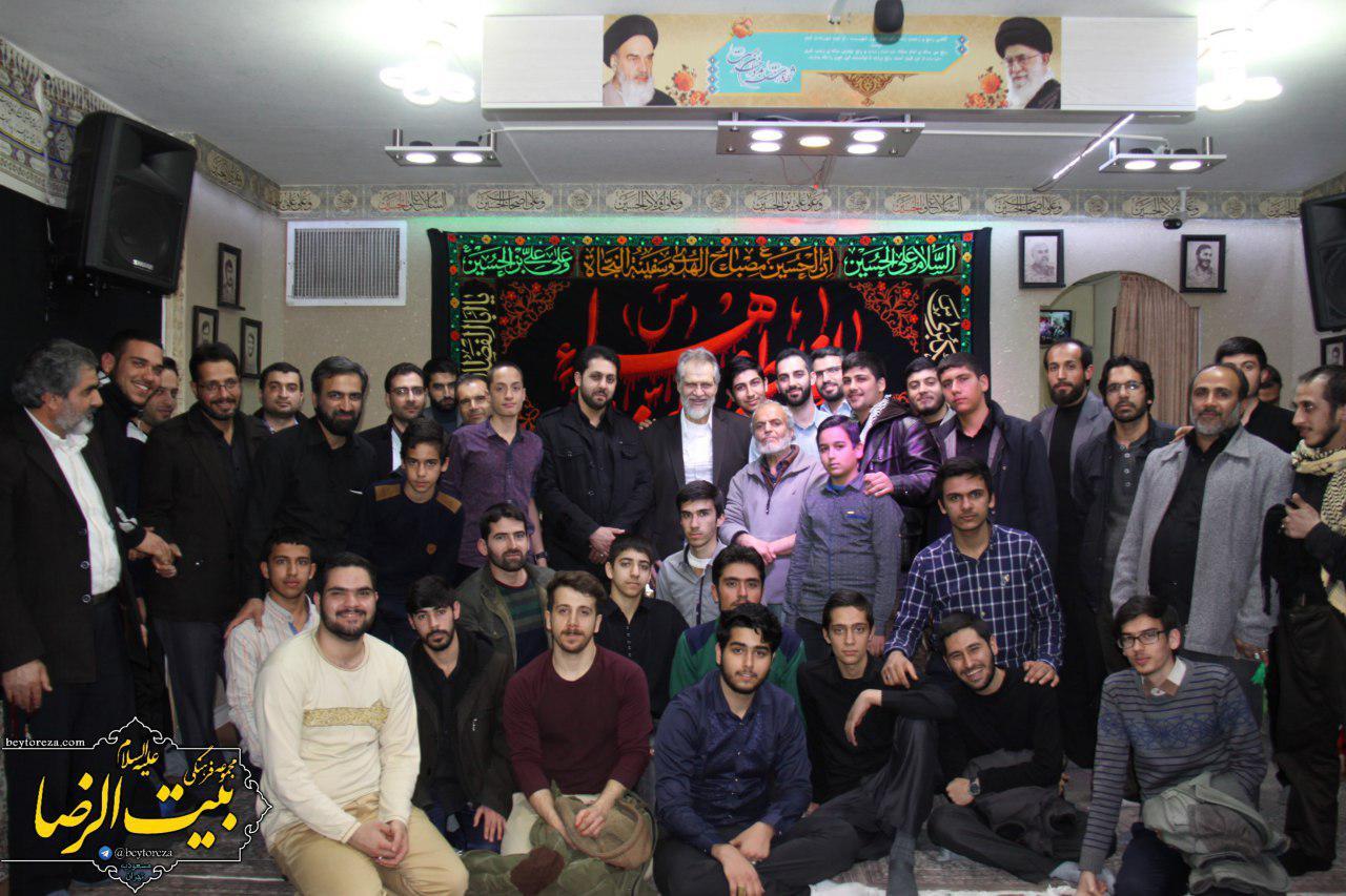 نادر طالبزاده در مجموعه فرهنگی بیتالرضا(ع) محله مسعودیه