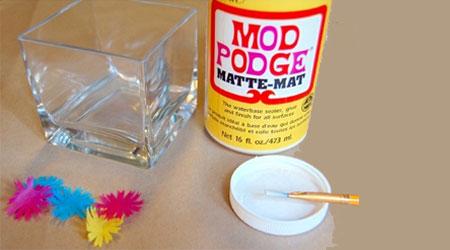آموزش ساخت جا شمعی گلدار