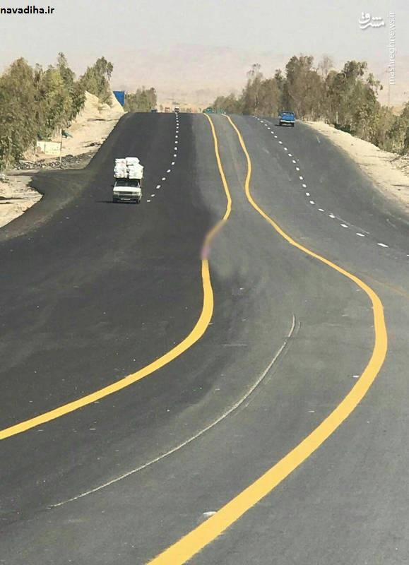 عکس/ عجیبترین خطکشی جادهای دنیا در ایران!