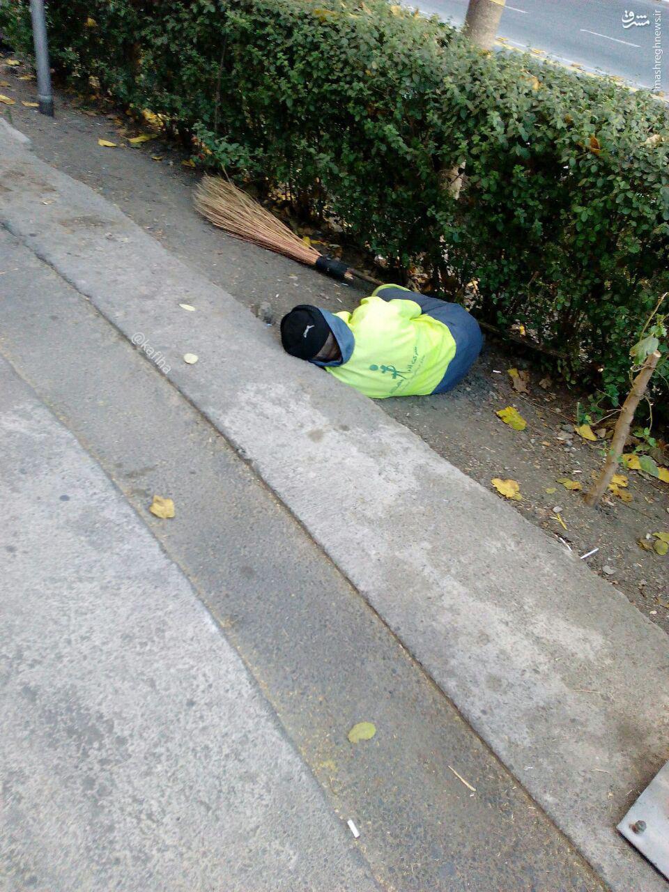 عکس/ خواب آرام مردی زحمت کش