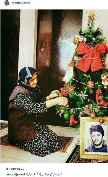 رامبد جوان کریسمس را با یک تصویر تاثیرگذار تبریک گفت