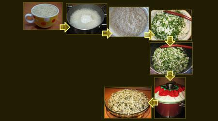 آشنایی با روش تهیه ی سبزی پلو با کوکو