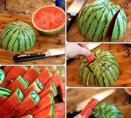 آموزش روشهای مختلف بریدن هندوانه مخصوص شب یلدا