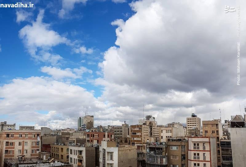 عکس/ وقتی هوای تهران بعد از روزها آلودگی پاک میشود!