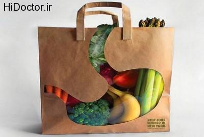 از کیسه های پلاستیکی رنگدار دوری کنید