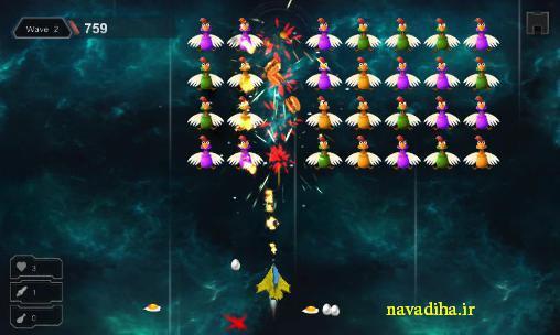دانلود بازی محبوب chicken shot مرغ بازی فضایی اندروید