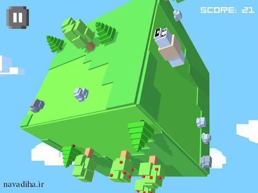 دانلود بازی Cube worm کرم به سبک سه بعدی اندروید