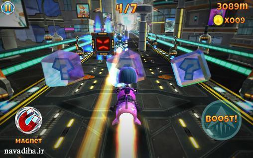 دانلود بازی Rocket racer سبک مسابقه ای با تیر و بمب اندروید