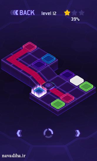 دانلود بازی flow dots نقطه بازی نو اندروید