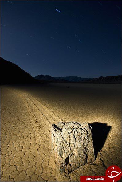 سنگهای جادویی که حرکت می کنند + عکس