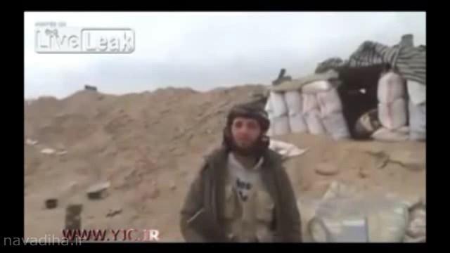 کلیپ به درک واصل شدن یک داعشی جلوی دوربین