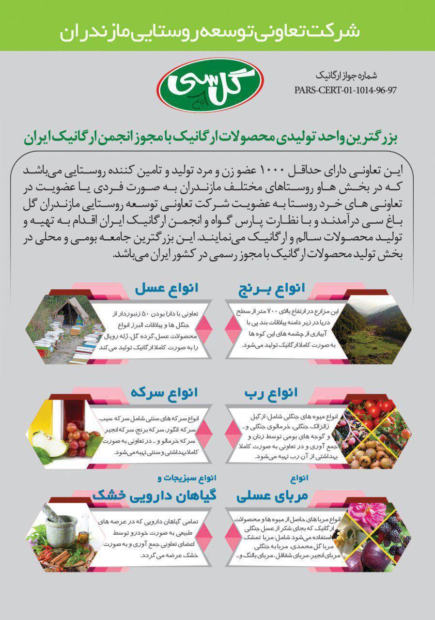 لیست تولید کنندگان محصولات ارگانیک