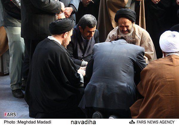 آیت الله مجتبی تهرانی:تا زنده ام نمیگذارم احمدی نژاد پیش من بیاید!