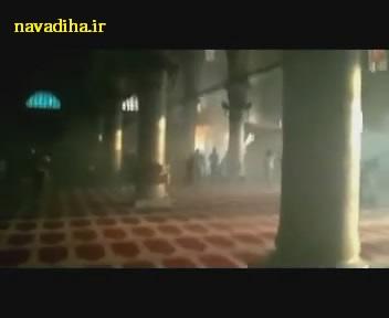 کلیپ حمله صهیونیست ها به مسجد الاقصی با یک سلاح ناشناخته
