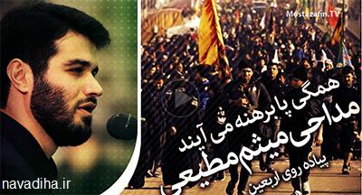 دانلود مداحی جدیدعربی و فارسی ویژه اربعین۹۴-میثم مطیعی+شعر