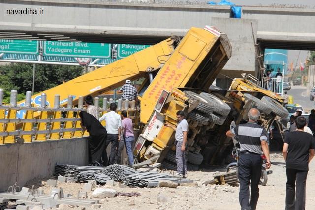 سقوط مرگبار جرثقیل در میدان امام حسین (ع)؟