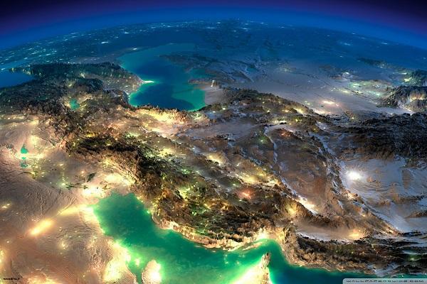 عکس ماهواره ای بسیار زیبا از کشور ایران – WIDE HD